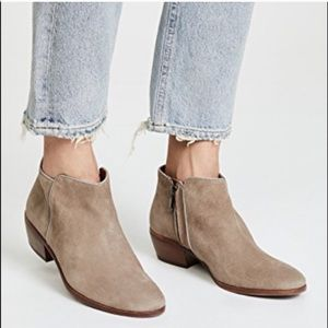 Sam Edelman Petty Leather Suede Ankle Booties